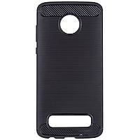 Защитный чехол iPaky Slim с карбоновыми вставками для Motorola Moto Z4 Play