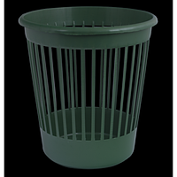 Кошик офісний для паперів, пластик, зелений
