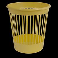 Кошик офісний для паперів, пластик, жовтий