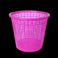 Корзина для паперів пластикова, рожева, 8л