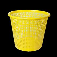 Корзина для паперів пластикова, жовта, 8л