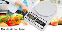 Весы кухонные электронные до 10 кг Electronic Kitchen Scale SF-400 ваги терези А плюс