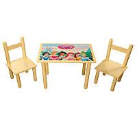 """Детский стол 40*60 и стулья """"Принцессы"""" недорого"""