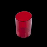 Стакан пластиковий для ручок, червоний