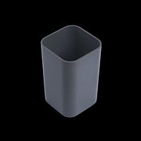 Стакан пластиковий квадратний, сірий