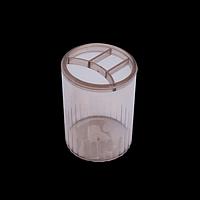 Стакан-підставка пластиковий, 4 відділення, димчастий
