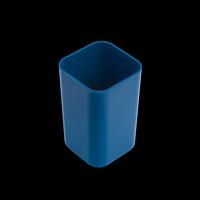 Стакан пластиковий квадратний, синій