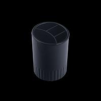 Стакан-підставка пластиковий, 4 відділення, чорний