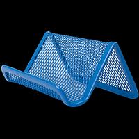Підставка для візиток BUROMAX, металева, синя