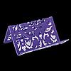 """Підставка для візиток """"BAROCCO"""" BUROMAX, металева, фіолетовий"""