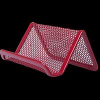 Підставка для візиток BUROMAX, металева, червона