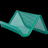 Підставка для візиток BUROMAX, металева, зелена