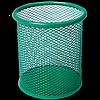 Підставка для ручок кругла BUROMAX, металева зелена