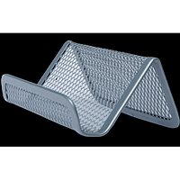 Підставка для візиток BUROMAX, металева, срібло