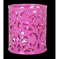 """Підставка для ручок """"BAROCCO"""" BUROMAX, металева, рожевий"""