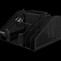 Прибор настільний BUROMAX, металевий, чорний