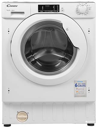Встраиваемая стиральная машина Candy CBWM 712D-S, фото 2