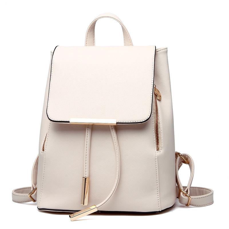 Рюкзак женский стильный, белый ( код: IBR007O )