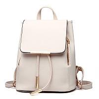 Рюкзак женский стильный, белый ( код: IBR007O ), фото 1