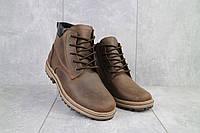 Ботинки мужские Yuves 444 коричневые-матовые (натуральная кожа, зима)