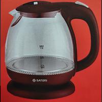 Електрочайник Satori SGK-4101-RD,1 л/ 900-1100ВТ, диск, скло, підсвічування Satori 4101