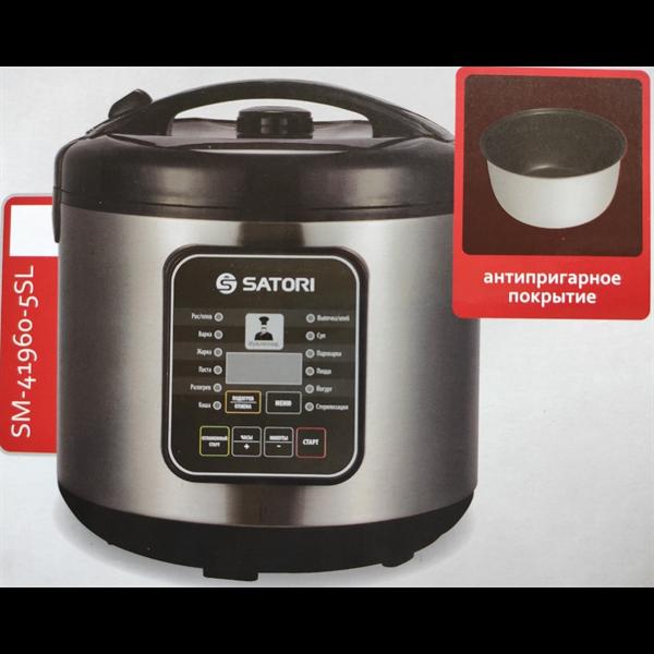 Мультиварка Satori SM-63960-5SL, 900Вт/5л/антипригарне покриття/63 режими приготування Satori 63960-5SL