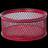 Підставка для скріпок BUROMAX, металева, червоний