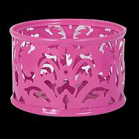"""Підставка для скріпок """"BAROCCO"""", металева, рожевий"""