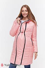 Розовая куртка двусторонняя зимняя очень теплая 2в1  для беременных и кормящих S M L XL