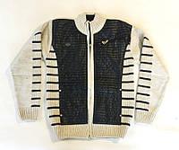 Вязанная кофта бежевого цвета 10-14 лет