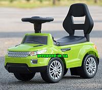 Детская каталка-толокар со световыми и музыкальными эффектами, Range Rover зеленый
