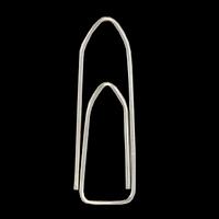 Скріпки нікельовані 28мм, 100шт., п'ятикутні, фото 1