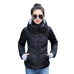 Женская Куртка Короткая Зима-Осень XL (WO001) Черная