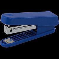 """Степлер пластиковий (плоский), """"JOBMAX"""" BUROMAX, 10 аркушів, (скоби №10), синій, фото 1"""