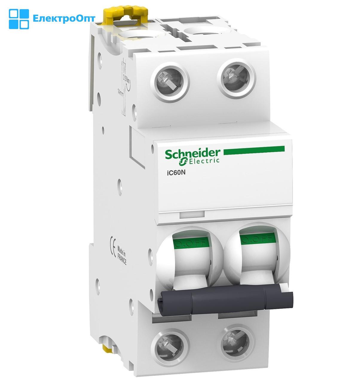 Автоматичний вимикач IC60N-B25/2 25A двополюсний Schneider