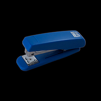 Степлер пластиковий BUROMAX, 20 аркушів, (скоби №24; 26), синій, фото 1