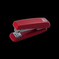 Степлер пластиковий BUROMAX, 20 аркушів, (скоби №24; 26), червоний, фото 1