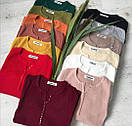 Жіноча кофточка на гудзиках колір теракот, фото 2