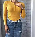 Жіноча кофточка на гудзиках колір теракот, фото 3