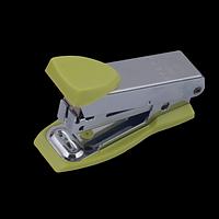 """Степлер металевий """"МІНІ"""" BUROMAX, 12 аркушів, (скоби №10), світло-зелений, фото 1"""