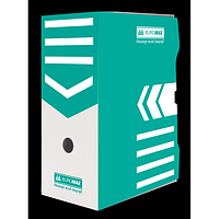 Бокс для архівації документів 150 мм, BUROMAX, бірюзовий