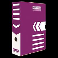 Бокс для архівації документів 80 мм, BUROMAX, фіолетовий