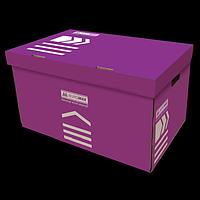 Короб для архівних боксів, BUROMAX, фіолетовий