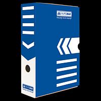 Бокс для архівації документів 80 мм, BUROMAX, синій