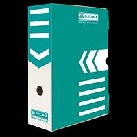 Бокс для архівації документів 100 мм, BUROMAX, бірюзовий