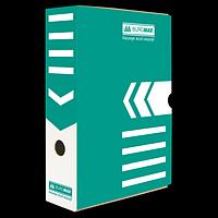 Бокс для архівації документів 80 мм, BUROMAX, бірюзовий