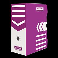 Бокс для архівації документів 150 мм, BUROMAX, фіолетовий