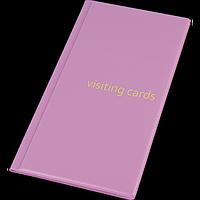 Візитниця для 96 візиток, PVC, рожевий