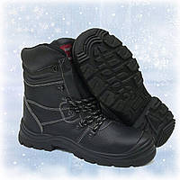 Ботинки берцы рабочие, усиленный носок Strong Alfa (Кожа)