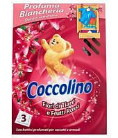 Парфумовані серветки - освіжувачі для гардеробу Coccolino Fiori di Tiare e Frutti Rossi